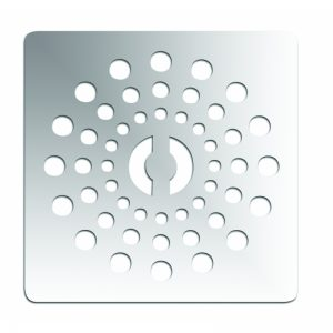 April Waifer Stainless Steel Waste & Grate 90mm White