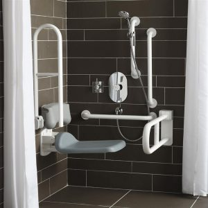 Armitage Shanks Contour 21 Grab Rail Shower Holder S6477 Grey