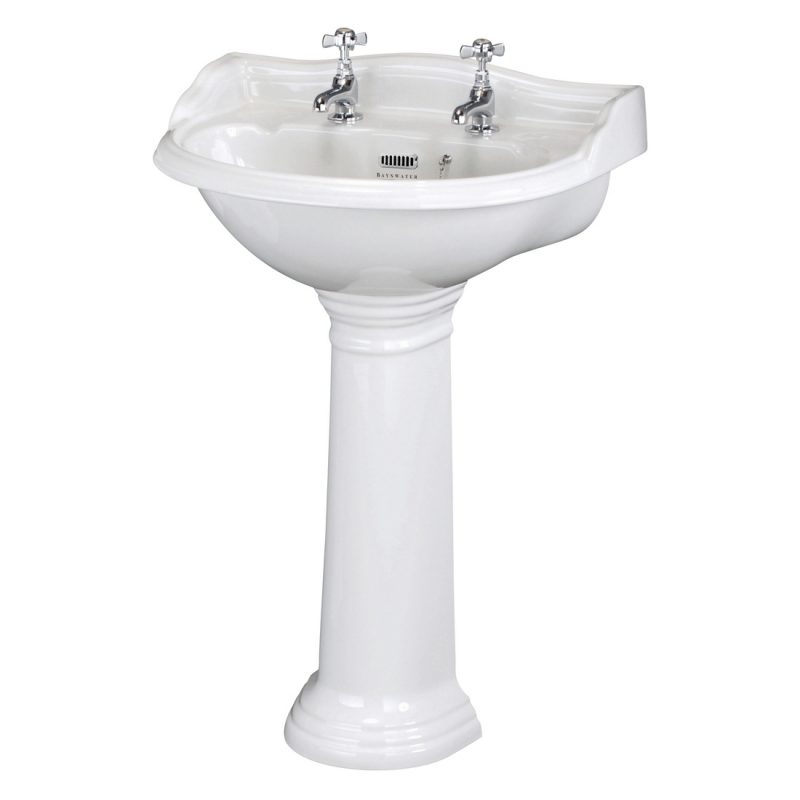 Bayswater Porchester 600mm 2 Tap Hole Basin