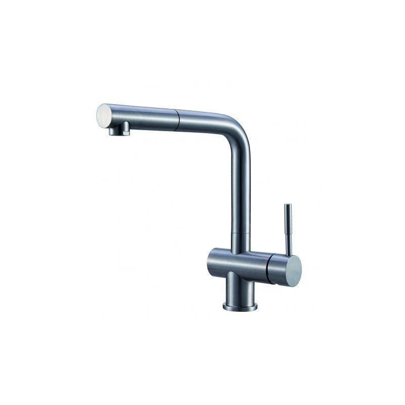 Clearwater Mercury Sink Mixer with Pull-Out Aerator Steel