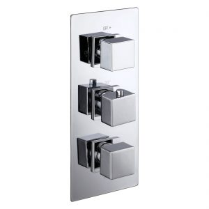 Aquaflow Italia Cube Triple Concealed 2-Way Shower Valve