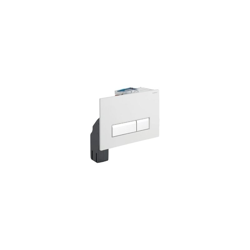 Geberit Flush Plate Sigma40 with Odour Extraction, Black Glass