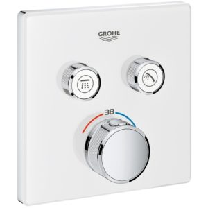 Grohe Smartcontrol Thermostat with 2 Valves 29156 Moon White