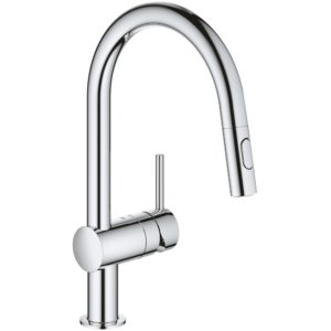 Grohe Minta Sink Mixer C-Spout with Pull Out Spray 32321