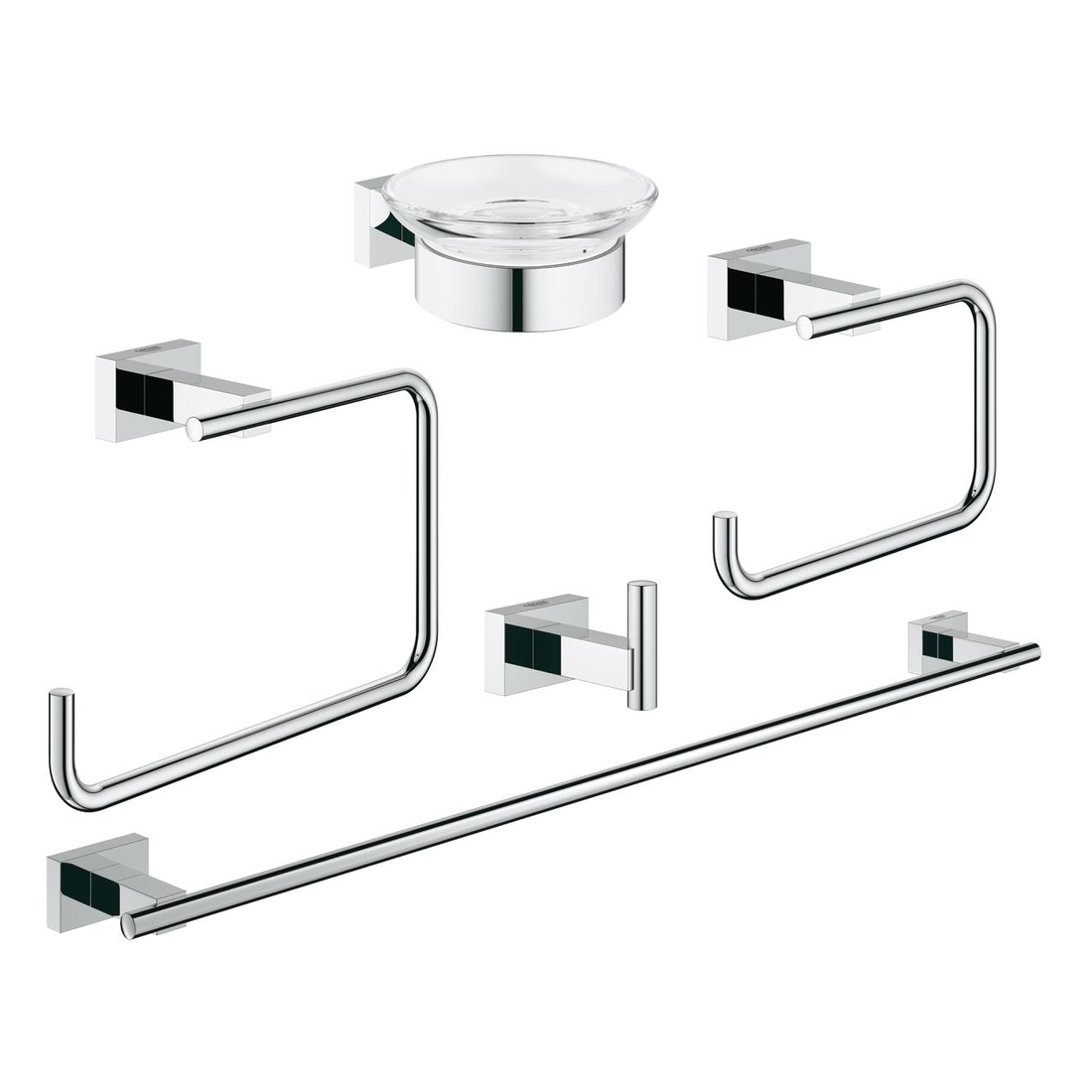 Grohe Essentials Cube Bathroom Accessories Set 5 In 1 40758