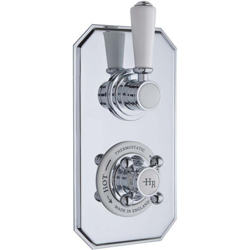 Hudson Reed White Topaz Twin Thermostatic Shower Valve Tsvt002