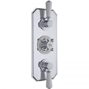 Hudson Reed White Topaz Triple Thermostatic Shower Valve