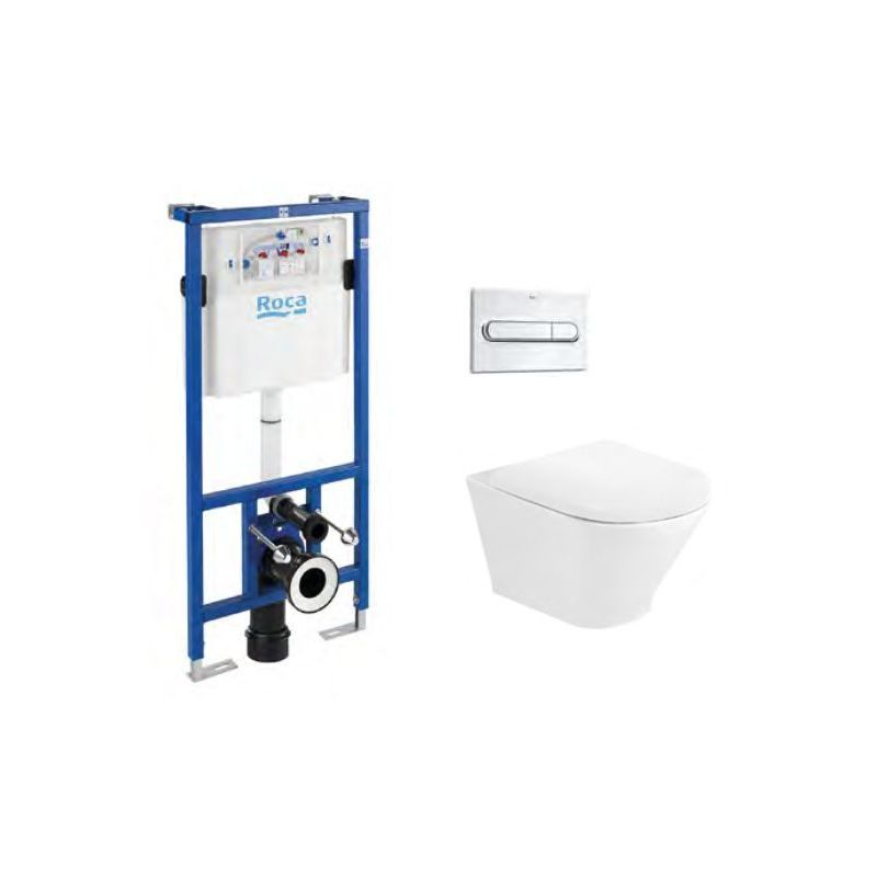 Roca The Gap Round Rimless Wall Hung Wc Frame Bundle 3487nr001