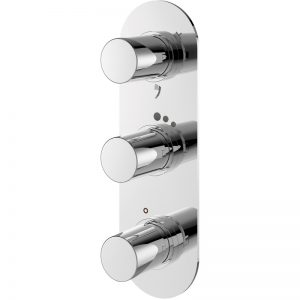 Sottini Basento 3 Control 3 Outlet Bath Shower Mixer Oval
