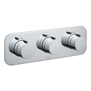 Vado Altitude 2 Outlet 3 Handle Horizontal Thermostatic Valve